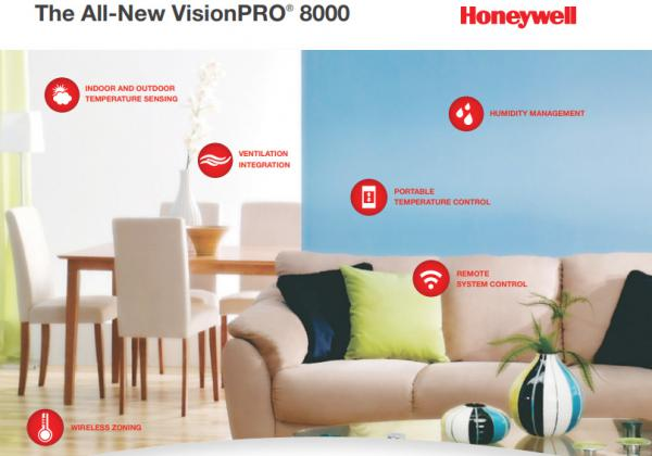 Honeywell VisionPRO® 8000 Thermostat Features